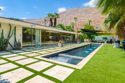pool in backyard