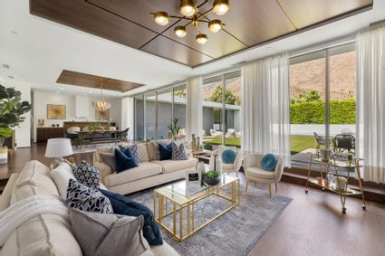 living room with outdoor views