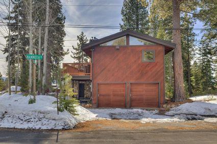 wood cabin exterior