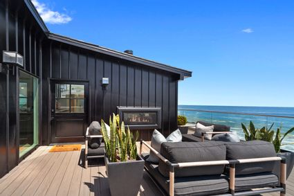 deck with view of ocean