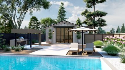 pool and back area rendering