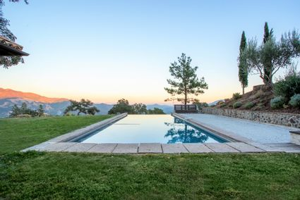 pool with view of valley