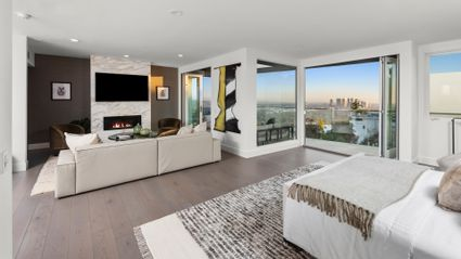 living room with large views