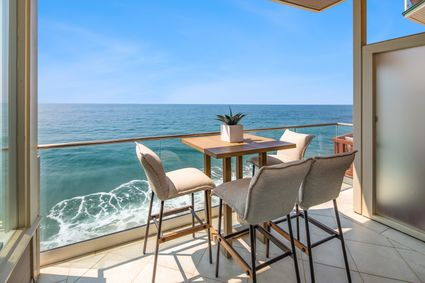 Balcony with View of Beach
