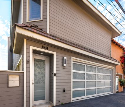Exterior with garage