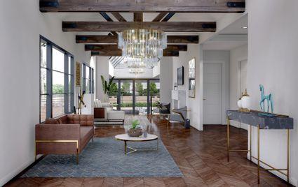 rendering of open concept living room