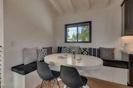 breakfast nook with L-shaped sofa