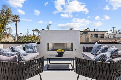 rooftop outdoor fireplace