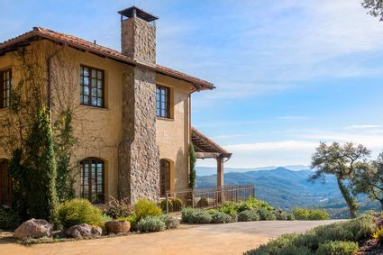 exterior in napa with valley views
