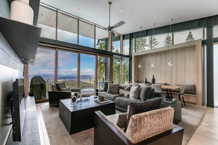 floor to ceiling windows in living room