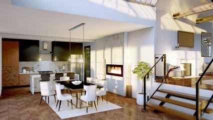 rendering of dining room