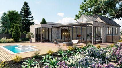 rendering of backyard
