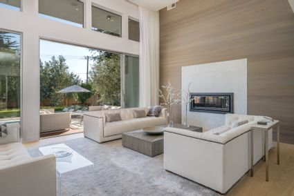 living room with sliding glass doors